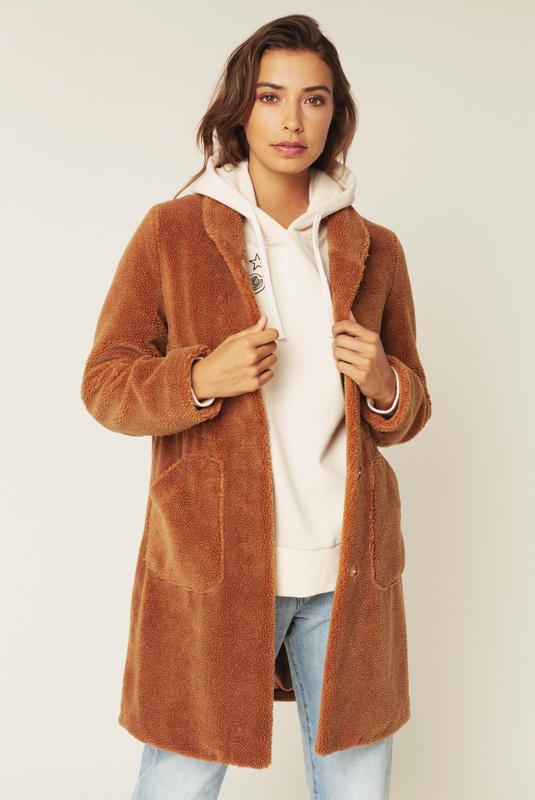 Product Thumbnail of Pam teddy faux fur coat