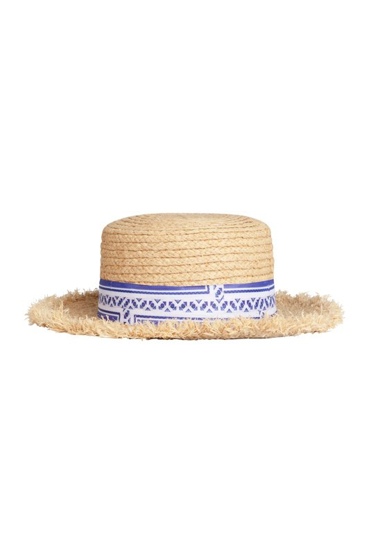 Product Thumbnail of Santorini straw boater hat