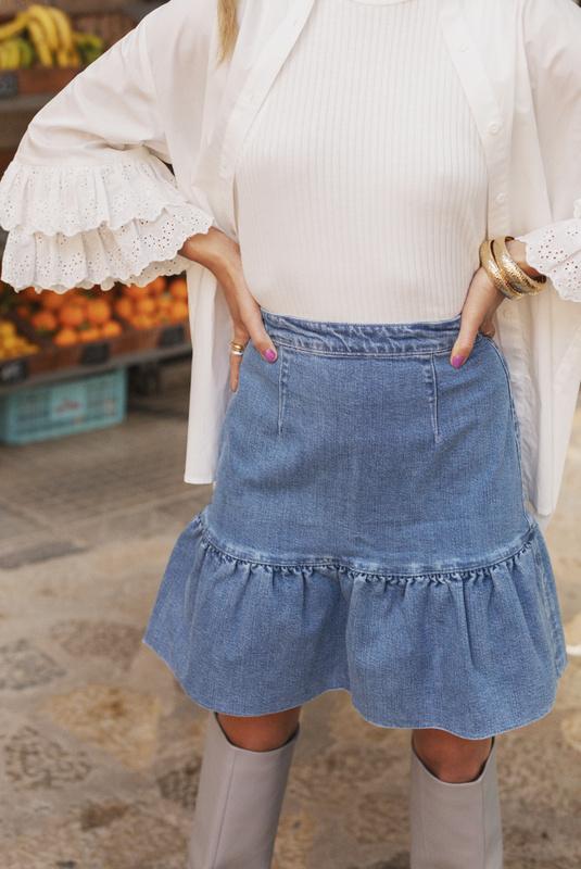 Product Thumbnail of Laurel denim skirt
