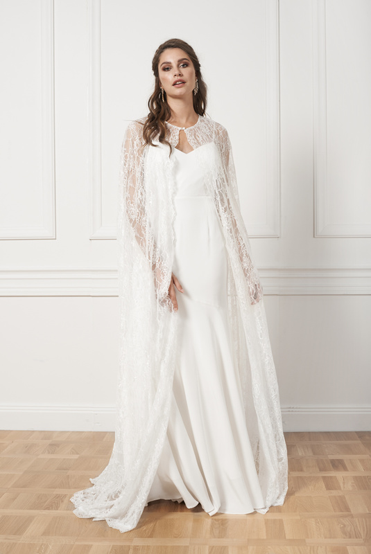 Product Thumbnail of Jasmine lace cape