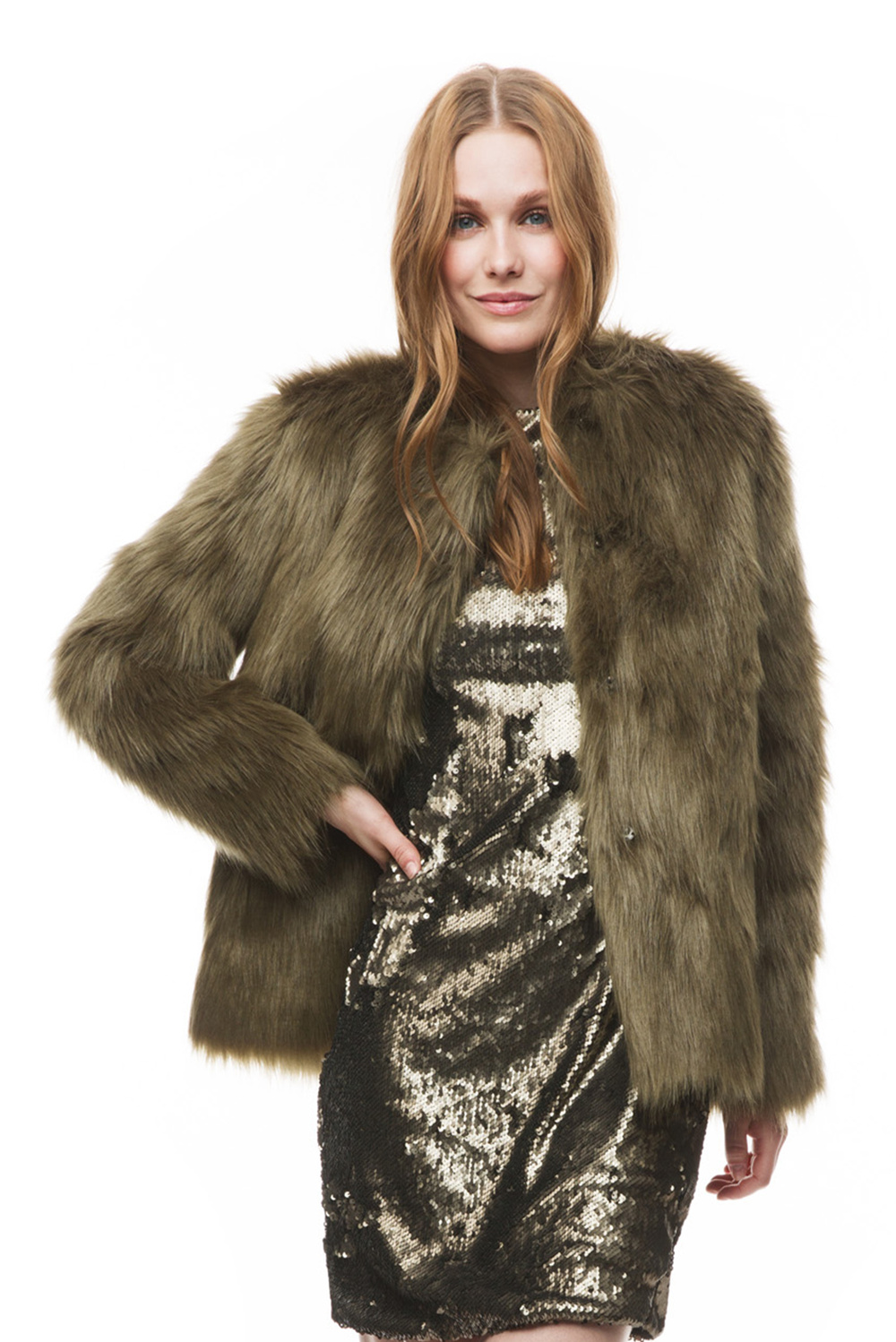 Addison faux fur coat