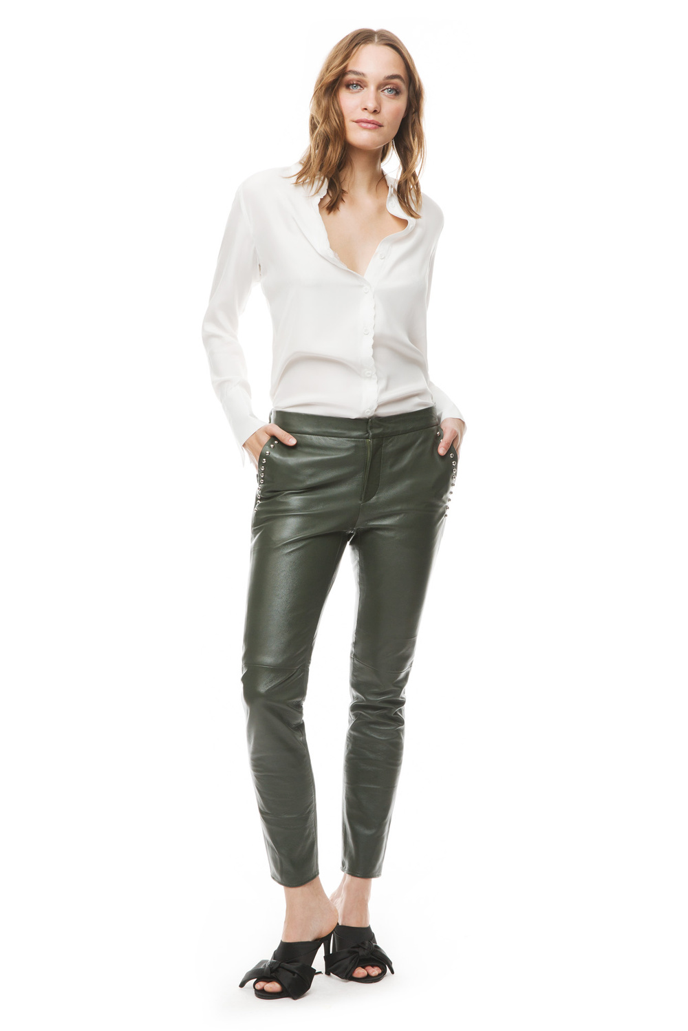 Tone leather pants