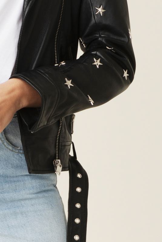 Product Thumbnail of Star leather jacket