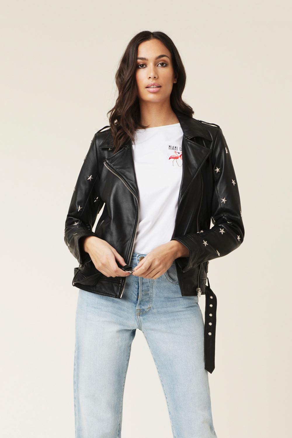 Star leather jacket